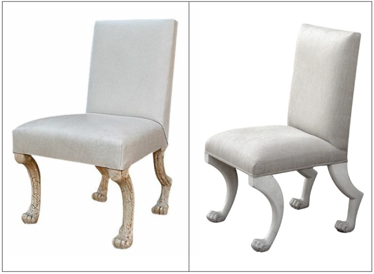 ABOVE: On Left: John Dickinson, Circa 1975 1979 On Right: The Ajax Side  Chair By Oly Studio