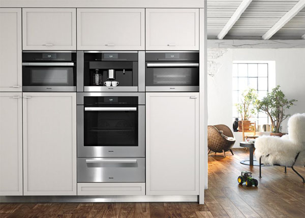 The generation 6000 miele combi steam oven in a new for Miele kitchen designs