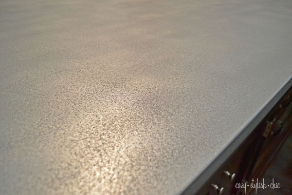 A cast zinc counter top by Bastille Metalworks