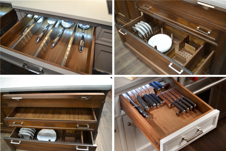 Luxury cabinetry - Ruskin-by-Rutt-Drawer-Interiors