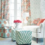 Aqua and Coral with a Dash of Chinoiserie