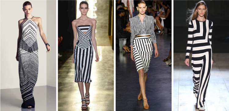 NYFW SS2015 Trends - A play on black and white stripes