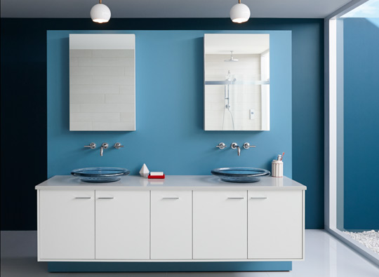 Kohler and Benjamin Moore collaboration - Palm Springs bath
