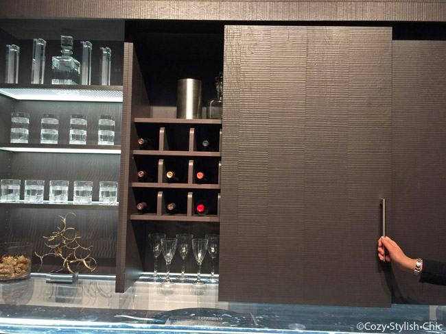Wood-Mode wine bar-KBIS 2015 | Cozy Stylish Chic